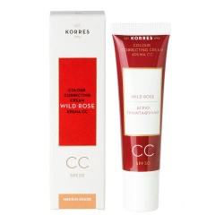 Comprar Korres CC Cream Rosa Salvaje Medium SPF30 30ml