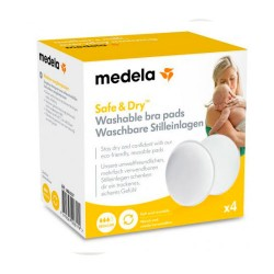 Medela Discos Absorbentes Lavables-Regular X4
