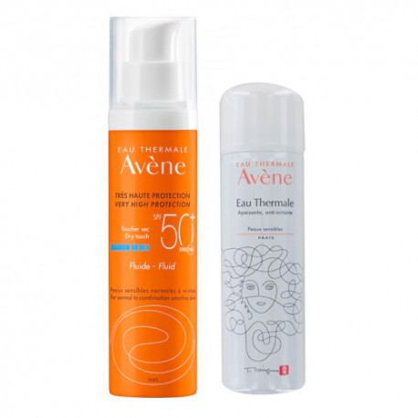 Avéne Fluido Facial SPF50+ 50ml + Agua Termal 50ml Regalo