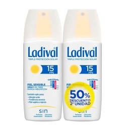 Ladival Spray Piel Sensible SPF15 2X150ml.