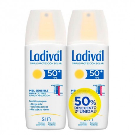 Ladival Spray Piel Sensible SPF50+ Duplo 2x150ml