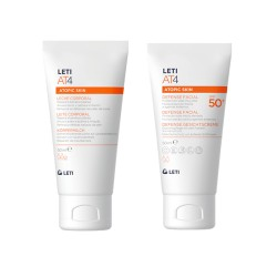 Leti AT4 Atopic Skin Defensa Facial SPF50+ 50ml +Leche Corporal 50ml