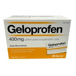 Comprar Geloprofen 400 Mg 12 Sobres Suspension Oral