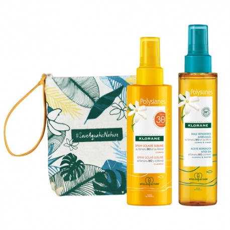 Klorane Polysianes Pack Spray Solar Sublime SPF30 200ml + Aceite After Sun