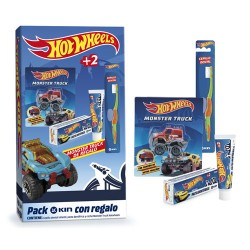 Comprar Kin Pack Hotwheels Cepillo + Pasta Dental + Monster Truck