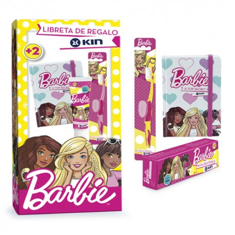 Kin Pack Barbie Cepillo + Pasta Dental + Libreta Regalo
