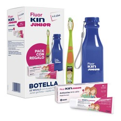 Comprar Fluorkin Junior Pack Gel Dental Fresa 75ml + Cepillo + Botella