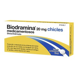 Comprar Biodramina 20 mg 12 Chicles