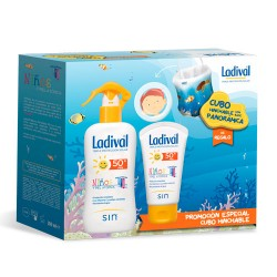 Comprar Ladival Niños Pack Spray SPF50+ 200ml + Crema 50ml Regalo Cubo
