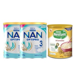 Nestle Optipro NAN 3 Leche Crecimiento Pack 2X800 gr + Regalo