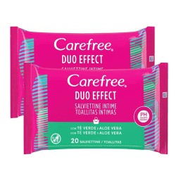 Carefree Duo Effect Toallitas Intimas 2x20uds.