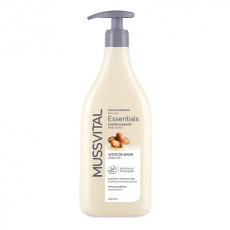 Mussvital Essentials  Body Milk Aceite de Argán 400ml