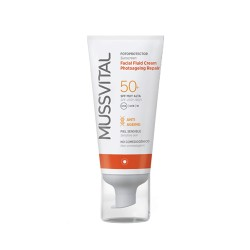 Mussvital Fotoprotector Facial Fluid Cream Antiedad SPF 50+ 50ml