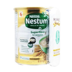Nestum Superfibra 5 Cereales 650g.+Regalo Cuchara