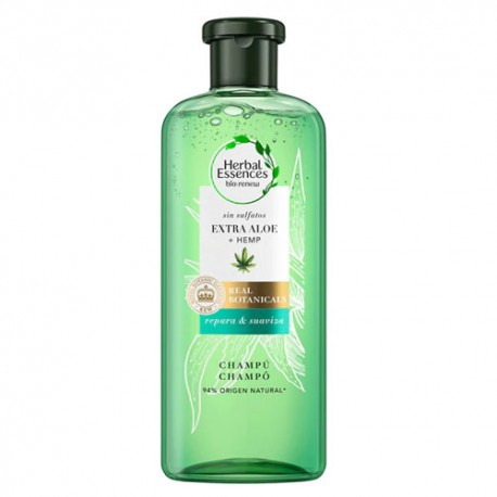 Herbal Essences Real Botanic Champú Aloe y Hemp 380ml