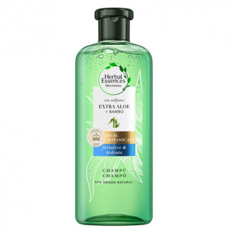 Herbal Essences Real Botanic Champú Extra Aloe y Bambú 380ml