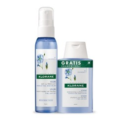 Klorane Spray Volumen Fibra de Lino 125ml + Champú 100ml