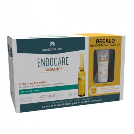 Endocare Pack Radiance C Oil Free 30 Ampollas + Obsequio Heliocare
