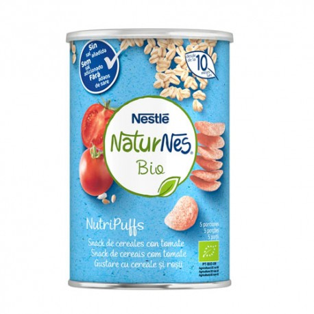 Nestlé Naturnes Bio Nutripuffs Snack Cereales con Tomate +10m 35gr