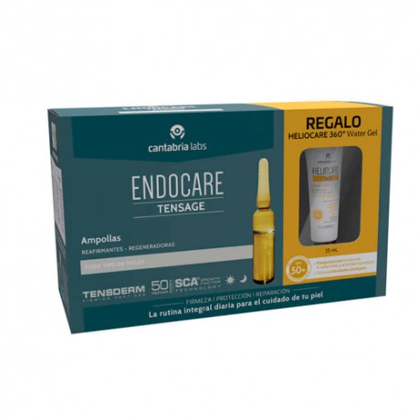 Endocare Tensage Ampollas 20x2ml +Heliocare 360º 15ml
