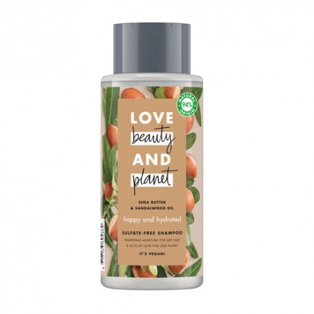 Love Beauty And Planet Champú Manteca de Karité y Sándalo 400ml