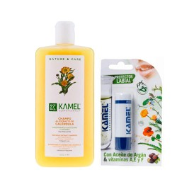 Kamel Champú Extracto de Caléndula 500ml.+ Regalo Stick Labial