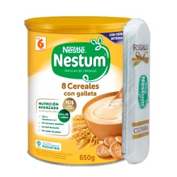 Nestum 8 Cereales con Galleta 650g.+Regalo Cuchara
