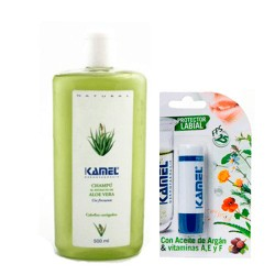 Kamel Champú Extracto Aloe Vera 500ml.+Stick Labial