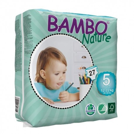 Bambo Nature Junior Talla 5 12-22kg 27 Unidades