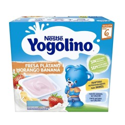 Comprar Nestlé Yogolino Fresa y Plátano +6m 4x100gr