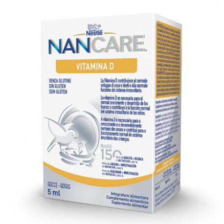 Nestlé NanCare Vitamina D Gotas 5ml