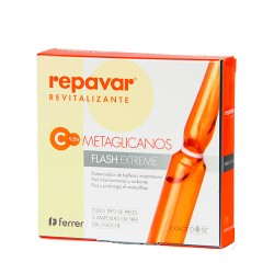 Repavar Revitalizante Vitamina C-Metaglicanos Flash Extreme 5 Ampollas.