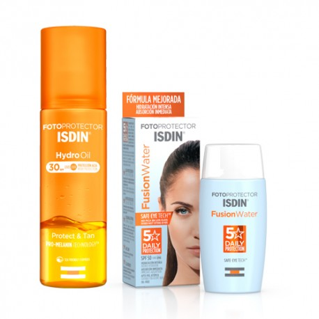Isdin Fotoprotector Fusion Water SPF50 50ml + Hydro Oil SPF30 200ml