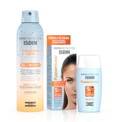 Isdin Protector Fusion Water SPF50 50ml +Spray Transparente Wet Skin SPF30 250ml