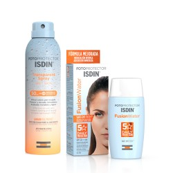 Isdin Fotoprotector Fusion Water SPF50+ 50ml + Spray Transparente Wet Skin 50SPF 250ml