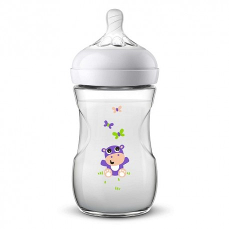 Philips Avent Biberón Natural Animalitos +1m 260ml