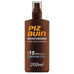 Comprar Piz Buin Ultra Light Sun Spray SPF15 200ml