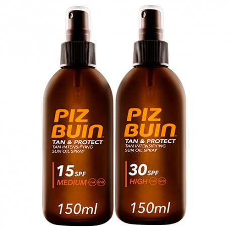 Piz Buin Pack Aceites Solares 15SPF Y 30SPF