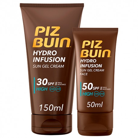 Piz Buin Pack Hydro Infusion facial SPF50 + corporal SPF30