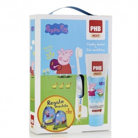 PHB Pack Peppa Pig Cepillo + Pasta dentífrica + Regalo