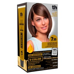 Comprar TH Pharma V-Color Tinte Nº 7.35 Sin Amoniaco Rubio Medio Dorado Caoba