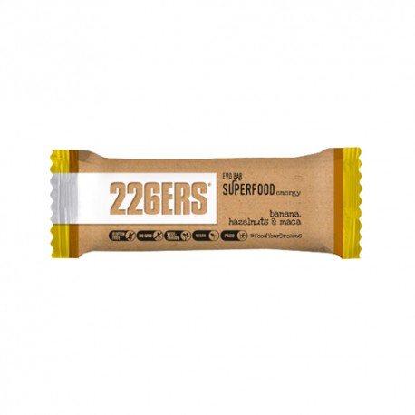 226ERS Evo Bar Superfood Energy Avellanas y Plátano 50gr