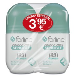Comprar Farline Desodorante Sensible Duplo 2x50ml