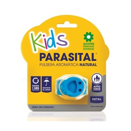 Parasital Kids Pulsera Aromática Natural Color Azul