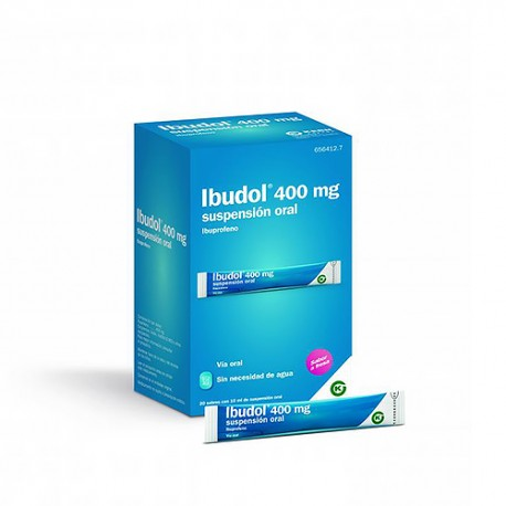 Ibudol 400mg 20 Sobres de Suspensión Oral 10ml