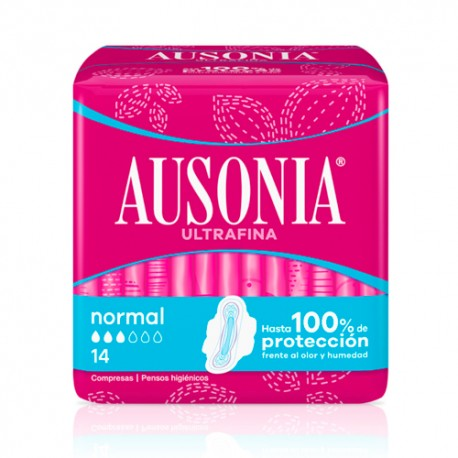 Ausonia Compresa Normal con Alas Air Dry 14 uds