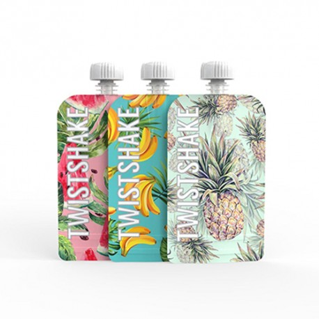 Twistshake Squeeze Bag Pack de 3 100ml