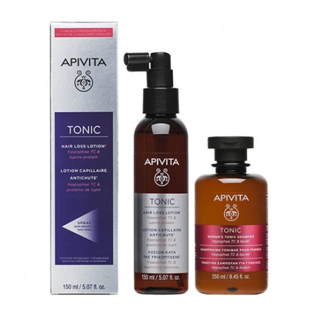 Apivita Loción Anticaída 150ml + Regalo Champú Woman Tonic 250ml