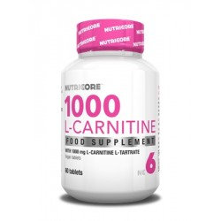 Nutricore L-Carnitina 1000mg 60 tabletas