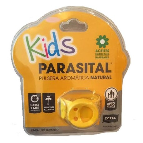 Parasital Kids Pulsera Aromática Natural Color Amarilla
